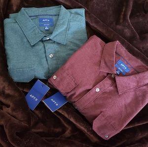2 Apt.9 long sleeve button down shirt XL